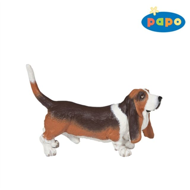 Papo Basset Hound Figurine - 54012 Animal Toy Detailed Plastic Dog Animal Figure