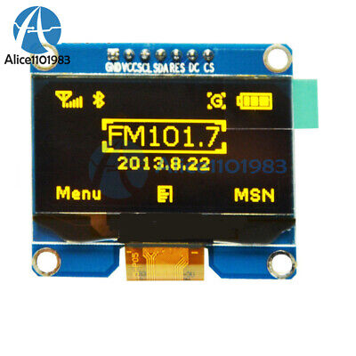 1.54 Inch Display Module Yellow Oled Lcd Led 128x64 Spi Interface 3.3-5v
