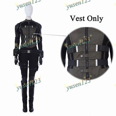Avengers Infinity War Black Widow Woman Army Green Vest Waistcoat Cosplay Tanks - Woman Avenger Costumes