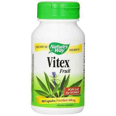 Nature's Way Vitex Fruit Capsules, 400 mg 100 ea