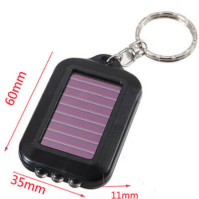 Lamp Portable Mini Outdoor Sports Light Solar Power Torch Flashlight Keychain ()