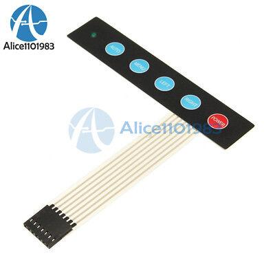 2pcs 1x5 Matrix Array 5keys Membrane Switch Control Keypad Keyboard For Arduino