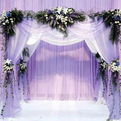500x48cm Organza Sheer Fabric For Wedding Birthdays Backdrop Decoration Lot B# - Decoration Material For Birthday