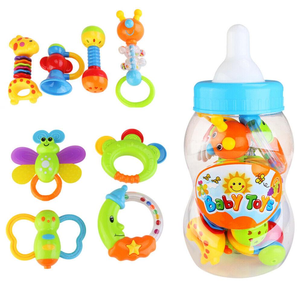 9 stk Baby Spielzeug Set Motorik Rasseln Greiflinge Rassel Babyrassel NEU