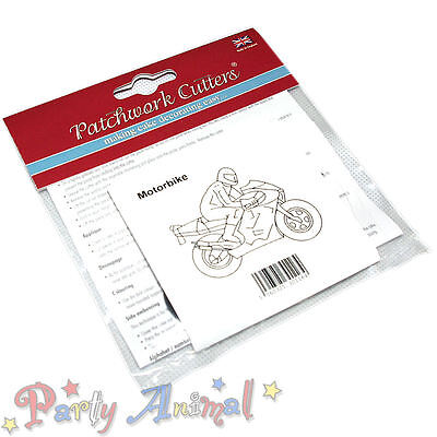 Sugarcraft Patchwork cutters- Motorbike Cake Decorating Cutter Tool Embosser