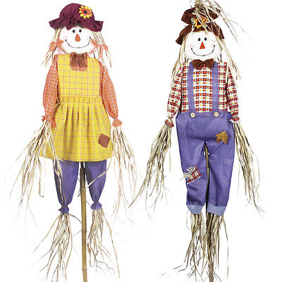Garden Scarecrow Pest Repeller Control Deter Birds & Pigeons 6ft Decoy - 2 Pack