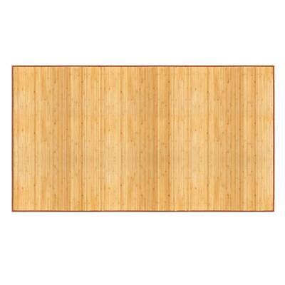 Natural Brown  Bamboo 5' X 8' Floor Mat Bamboo Area Rug Indoor Carpet Field Floor Mat