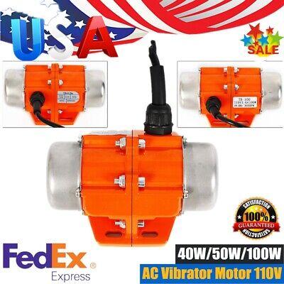 Ac Vibration Motor 4050100w Vibrating Asynchronous Vibrator 110v 3600rpm New