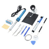 New 14in1 30W 110V Electric Solder Iron Tool Kit Set w/ Iron Stand Desolder Pump