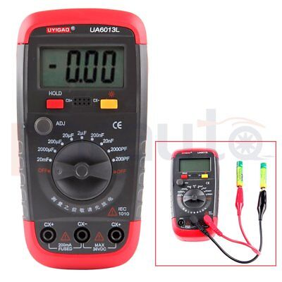 New Ua6013l Capacitor Digital Auto Range Lcd Monitor Capacitance Tester Meter