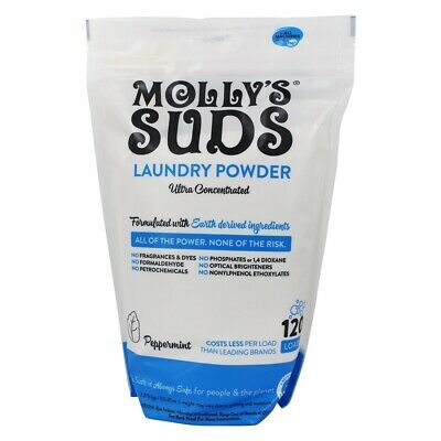 Molly's Suds - Ultra Concentrated Laundry Powder 70 Loads Peppermint Ultra Laundry Powder