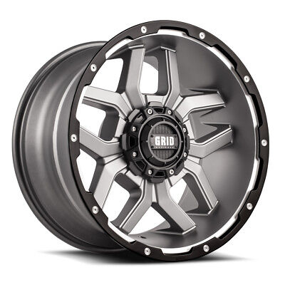 17x9 GRID OFFROAD GD07 ANTHRACITE WHEELS  (5x135 +15 87) SET OF 4
