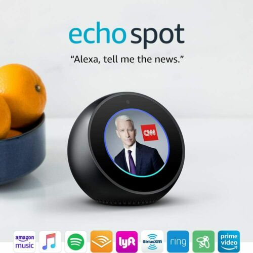 Amazon Echo Spot Alexa Black - IN STOCK ✔✔ FREE USA SHIPPING✔✔