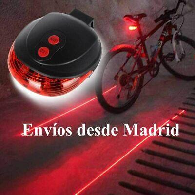Luz led Laser Trasera para Bicicleta seguridad Distancia