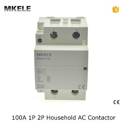 Mkwct-100 Household Ac Contactor 100a 2p 2no 5060hz Din Rail