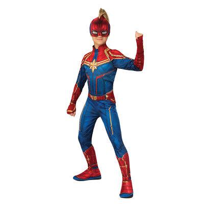 Girls Captain Marvel Hero Suit Superhero Costume - Superhero Costumes Girl