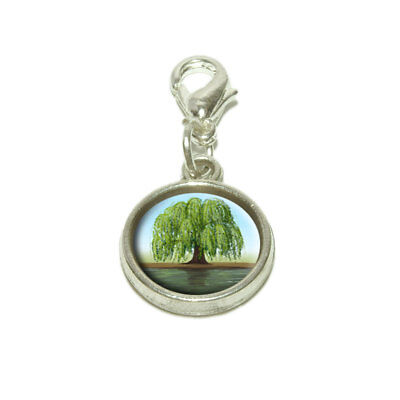 (Old Weeping Willow Tree Dangling Bracelet Pendant Charm)