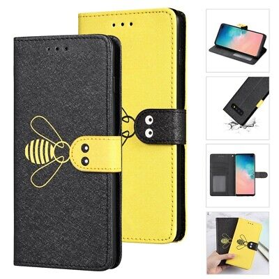 Fr Galaxy S10e S10 S9 S8 Plus S7 Edge Note9 Cute Bumblebee Card Photo Stand Case ()