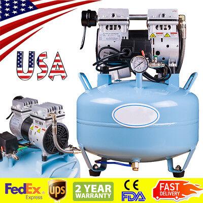 Portable Dental Medical Air Compressor Silent Quiet Noiseless Oilless Usa Stock