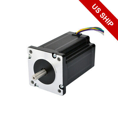 Nema 24 Stepper Motor Dual Shaft 439 Oz.in 8 Leads Bipolarunipoar Cnc Robotics