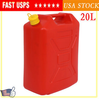 20l Gas Can Plastic Utility Jug For Car Storage Water Fuel Oil Petrol Diesel Us