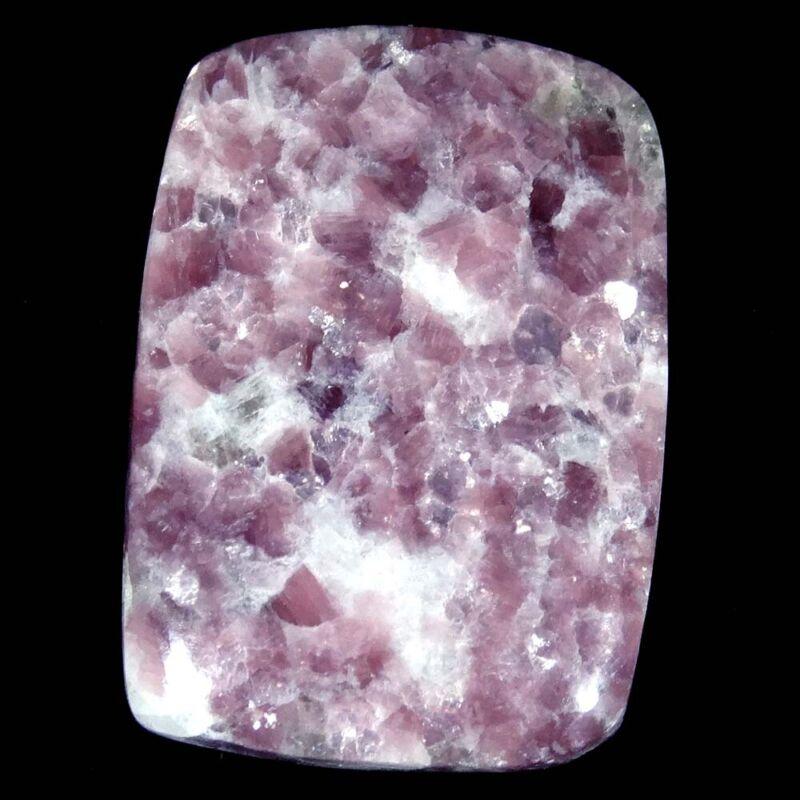 32.45Cts. 21X29X5mm 100% Natural Lepidolite Rare Loose Gemstone Cushion Cab