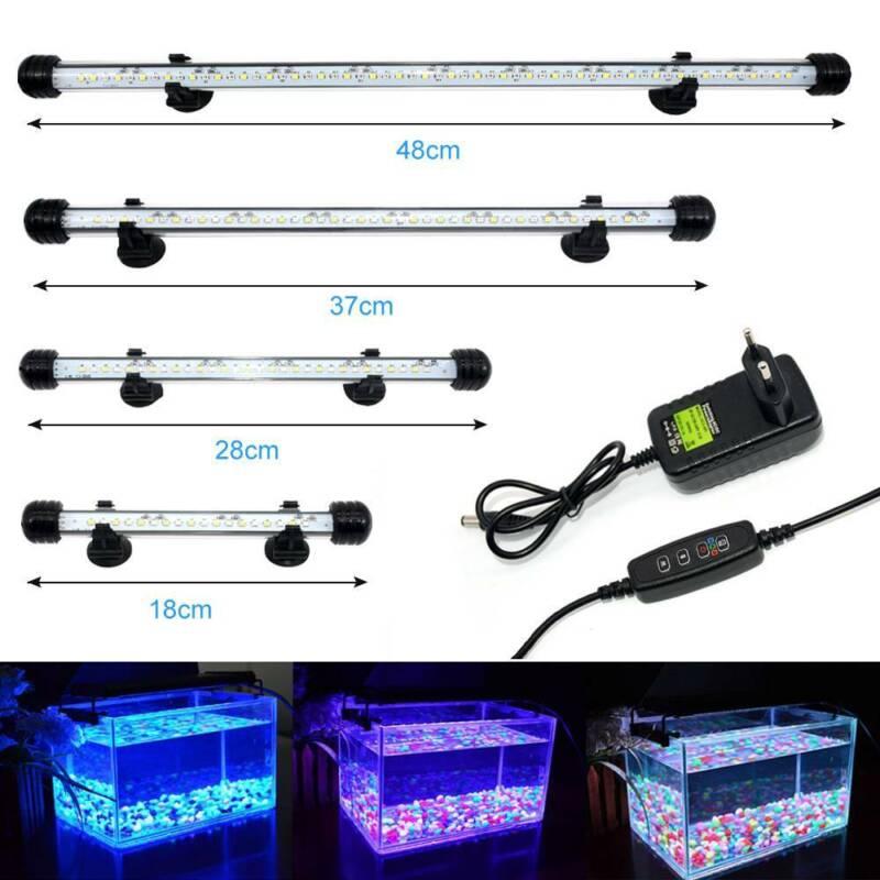 VARMHUS LED Aquarium Beleuchtung Lampe Tauch Licht mit einfachen Zeitschaltuhr