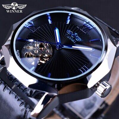 er Luxury Fashion Leuchtendes Skelett Mechanische Armbanduhr (Skelett Arm)