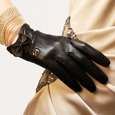 Dress Gloves Womens (Womens Genuine Nappa Leather Silk Lined Drive Dress Gloves Many Color On Sale)
