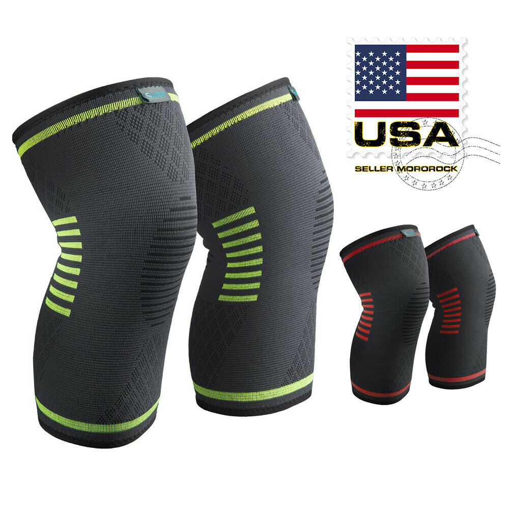 2X Knee Sleeve Compression Brace Support For Arthritis Sport