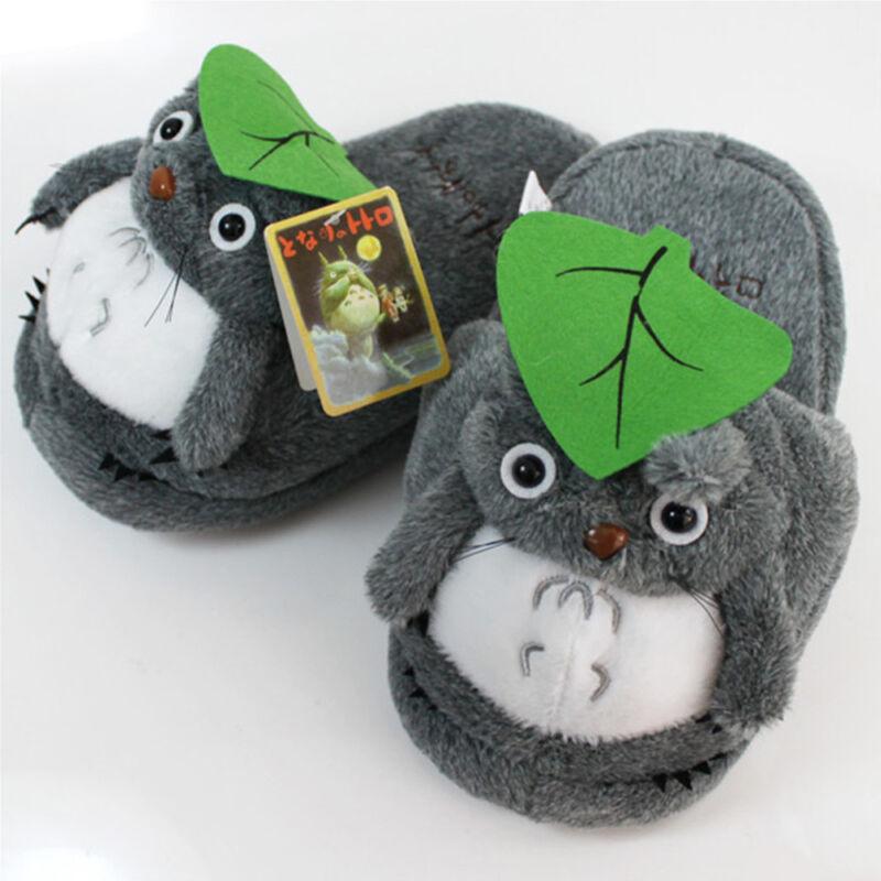 HOT Anime My Neighbor Totoro: Soft Gray Totoro Plush Slippers Adult & Kid Gift