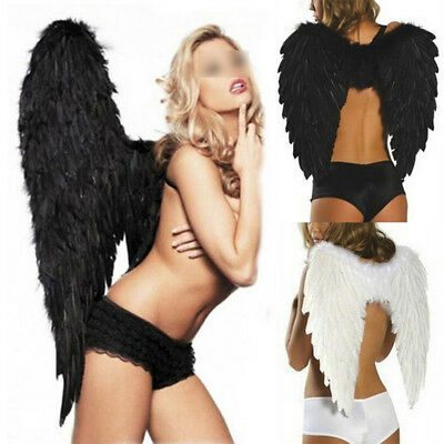 Large Feather Fairy Angel Wings Adult Kids Cosplay Costume Halloween Fancy Dress (Feather Fairy Wings)