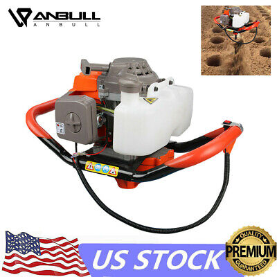 72cc 4hp Gas Powered Post Hole Digger Earth Auger Digging Engine Fence Ground