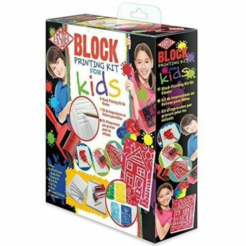Essdee P6k4k Block Printing Kit For Kids - Piece Set Gift Starter 11 Craft 10
