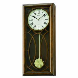 Seiko QXM343BLH 23 in. Pendulum Chiming Wall Clock