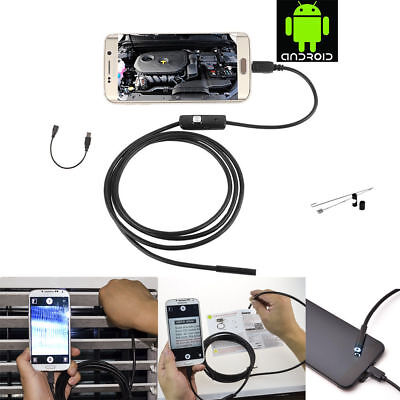5m 7nn Usb Endoscope Borescope Inspection Hd Camera With 6 Leds For Android