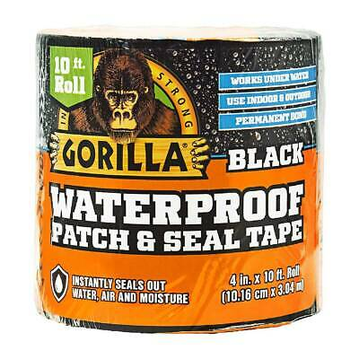 Gorilla Waterproof Patch And Seal Tape 4 In X 10 Ft Extra Thick Adhesive Black