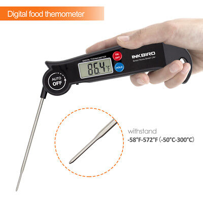 Inkbird Portable Cooking Thermometer Food Meat Fast Read -58°F-572°F LCD display
