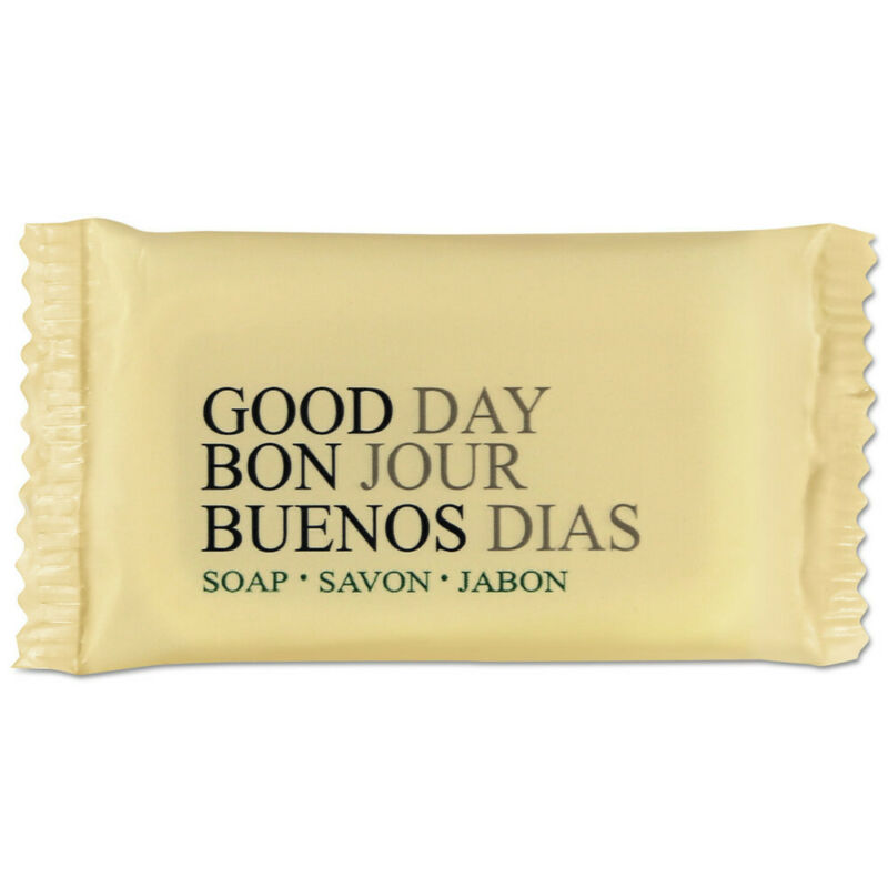 Good Day Amenity Bar Soap, Pleasant Scent, 1/2 Oz, 1000/carton  390050A New