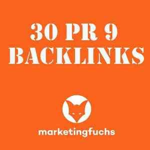 30 x PR 9 Backlinks Suchmaschinenoptimierung DoFollow SEO Linkaufbau manuell