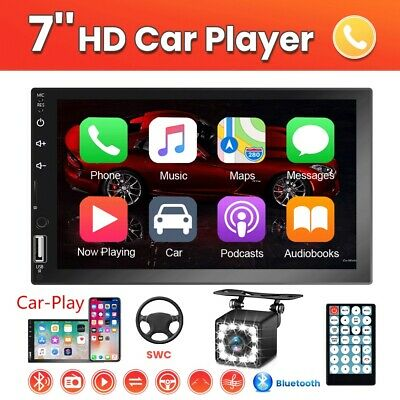 """7"""" Double 2 Din Radio Apple/Andriod Car Play BT Car Stereo Touch Screen + Camera"""