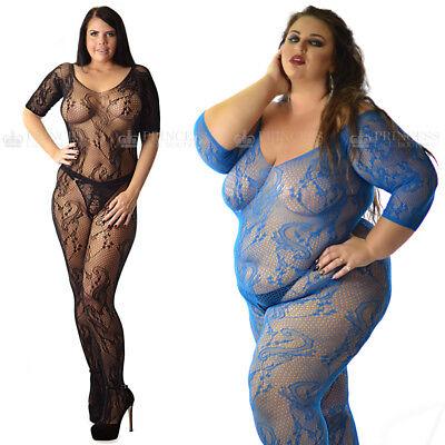 Echt UK Größe 6-26 Spitze Dehnbar Body Körper Strümpfe Lingerie Plus + Menge ()