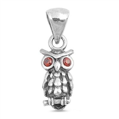 Whimisical Owl Charm .925 Sterling Silver Pendant ()