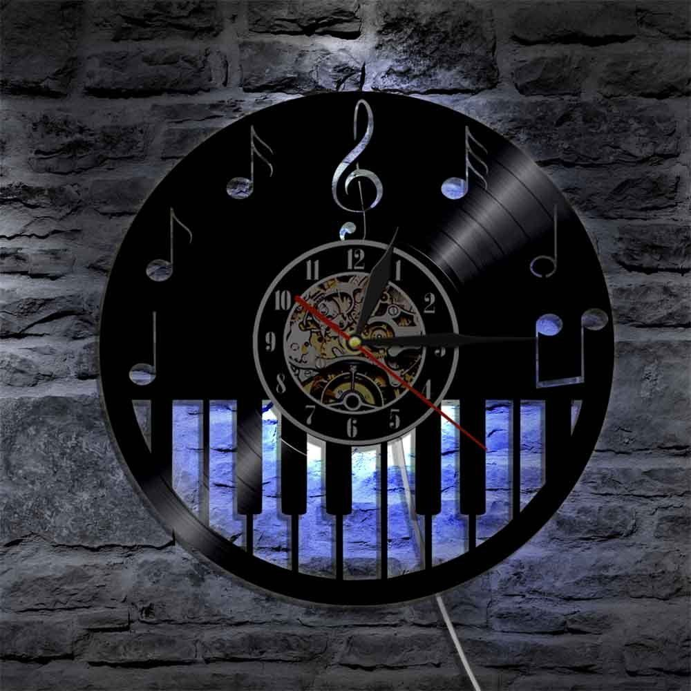 led wall clock vintage vinyl cd clocks