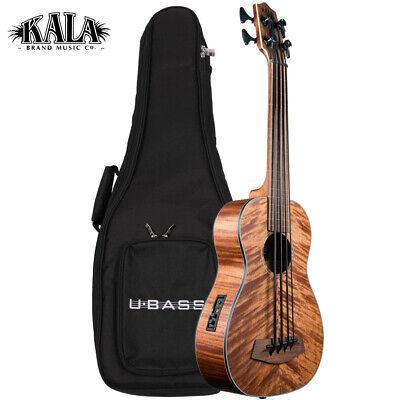 Kala U-BASS Exotic Mahogany Fretless Acoustic Electric Satin Finish with Gig Bag for sale  Petaluma
