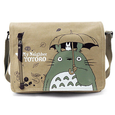 My Neighbor TOTORO Fashion Canvas Shoulder Messenger Bag School Bag Kid Gift