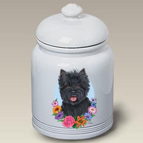 Black Cairn Terrier Ceramic Treat Jar TP 47081