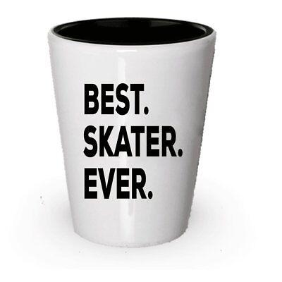 Skater Shot Glass - Best Skater Ever - Gifts For Skaters - Ice Figure