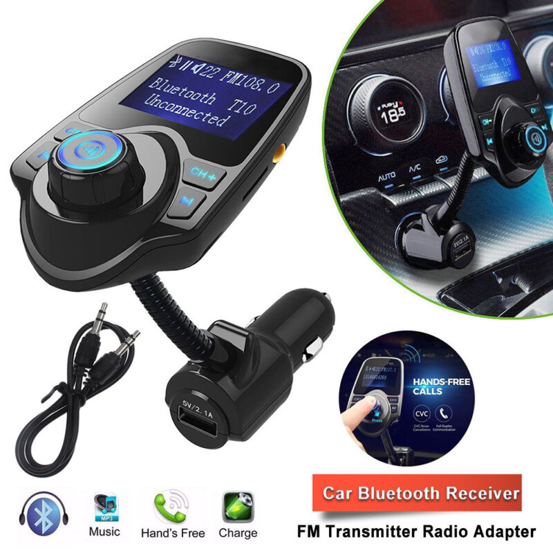 Wireless Bluetooth Car AUX Audio Receiver FM Transmitter Adapter USB Charger Hot