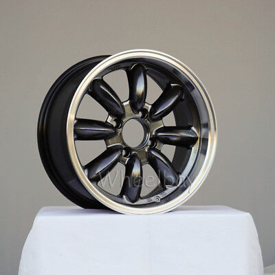 5 ROTA RB WHEELS 15X6 4X95.25 +25 73 ROYAL HYPER BLACK TR8 SPITFIRE GT6 EUROPA